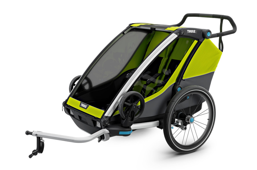 Vozík za kolo Thule Chariot Cab 2 Chartreuse/Dark Shadow