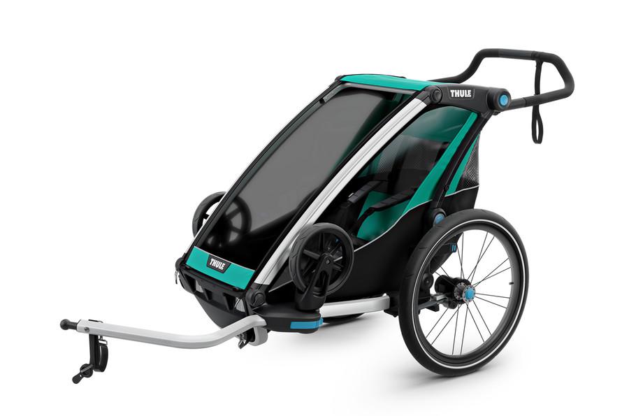 Vozík za kolo Thule Chariot Lite 1 Blue Grass/Black
