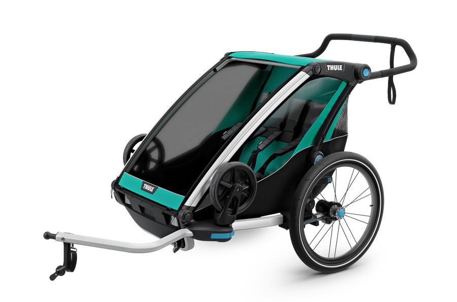 Vozík za kolo Thule Chariot Lite 2 Blue Grass/Black