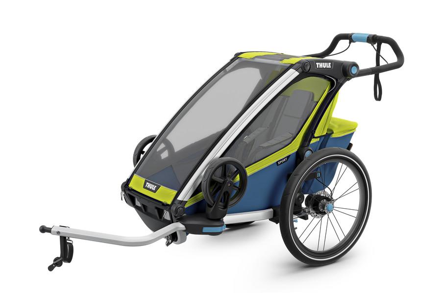 Vozík za kolo Thule Chariot Sport 1 Chartreuse/Mykonos