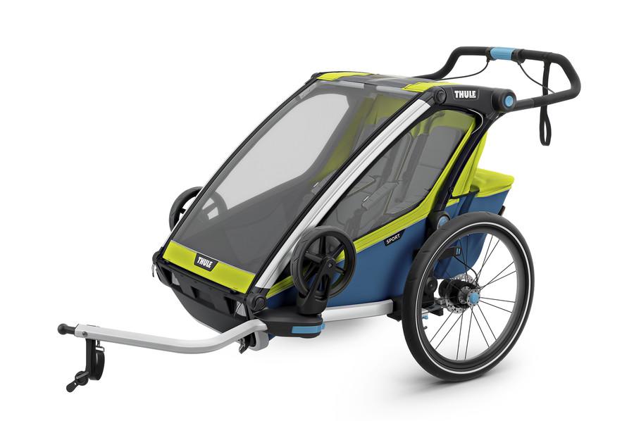 Vozík za kolo Thule Chariot Sport 2 Chartreuse/Mykonos